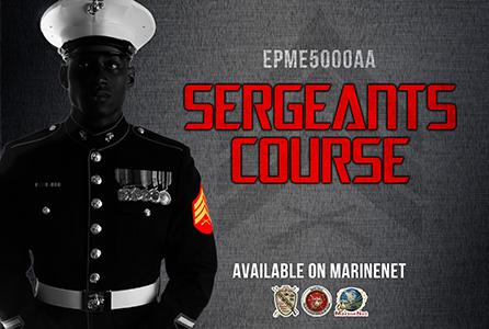 Cdet Sergeants Course Distance Education Program